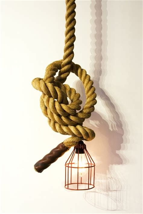 Unique Climbing Rope Light By Atelier 688 Industrial Rope Light Ceiling