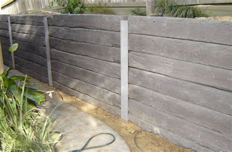 Cement Sleeper Retaining Walls by Australian Retaining Walls Concrete Sleeper Retaining Walls Australian Retaining Walls