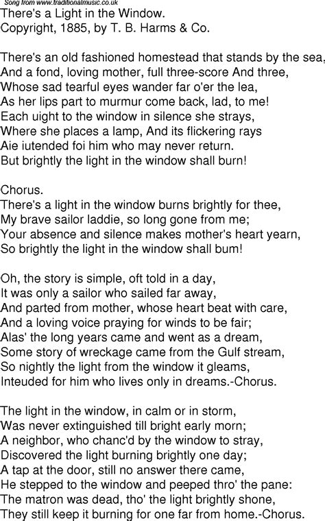 time song lyrics     light   window