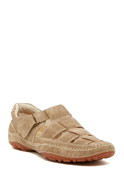 fishermans sandals gbx fisherman sandal in brown for lyst