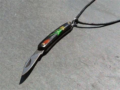 tiny pocket knives vintage tiny pocket knife pendant necklace charm sharp