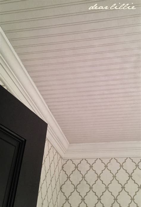 beadboard wallpaper uk dear lillie progress in our powder room before and