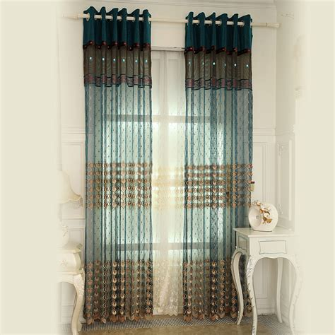 peacock blue sheer curtains teal french style best peacock feature sheer curtains