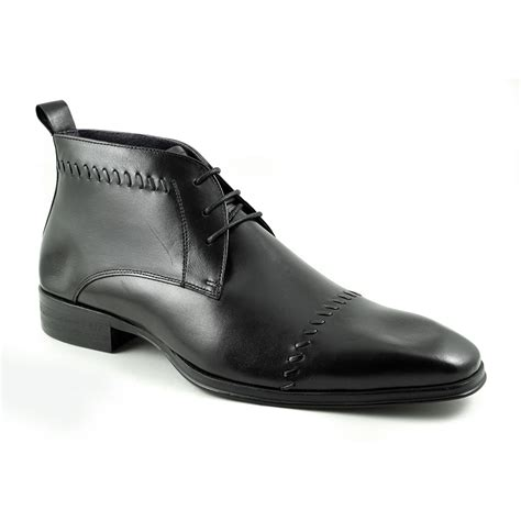 buy mens black lace up boots gucinari mens style