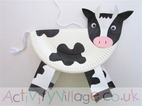 Cow Paper Craft - paper plate cow pinteres