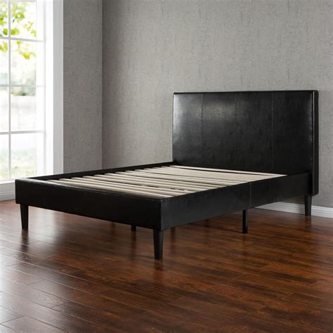 queen leather bed night therapy faux leather platform bed with slats queen