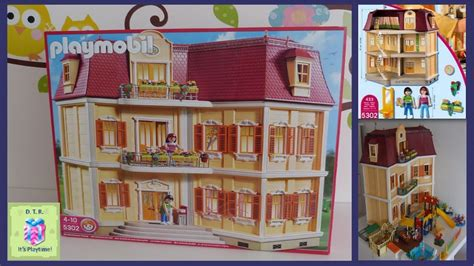 play mobile doll house playmobil 5302 dollhouse grande mansion unboxing lots of