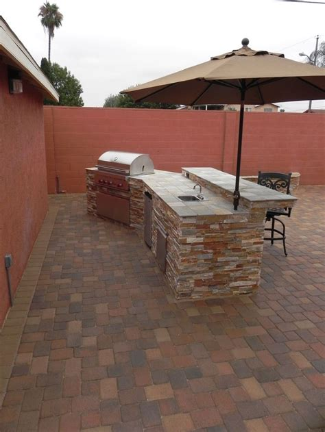 new patio and bbq island orco pavers bar