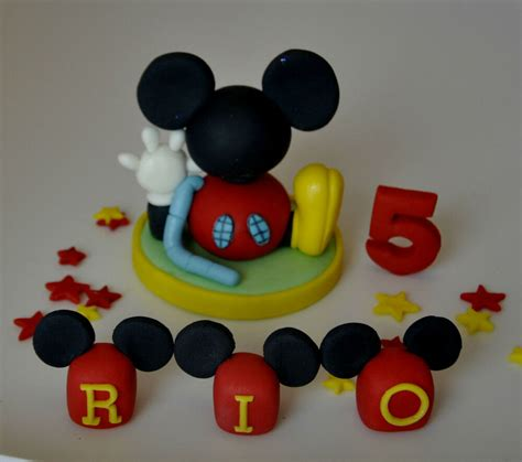 mickey mouse clubhouse  blocks age cake topper decorationedible boy girl ebay