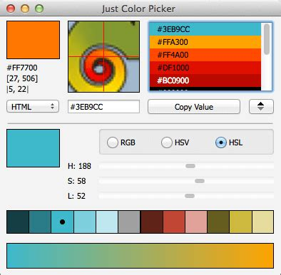 color picker mac just color picker 4 6 best free colour tool for windows