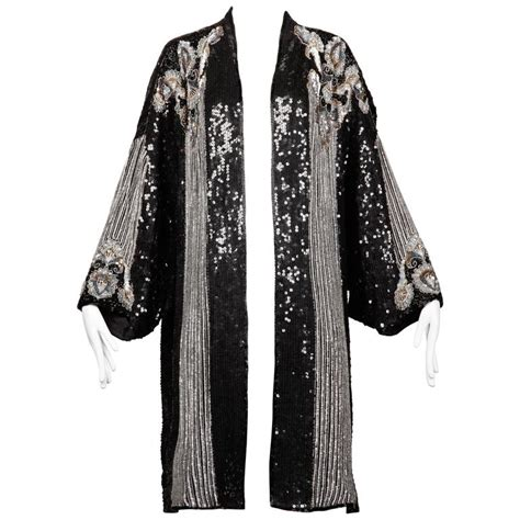 beaded kimono judith vintage deco silk sequin beaded kimono