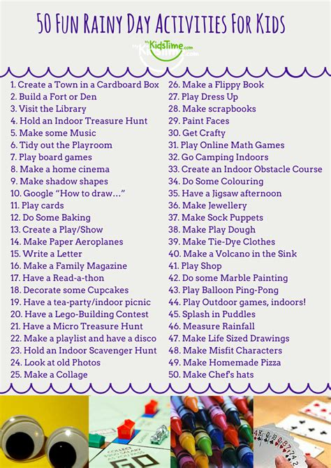 7 rainy day crafts to rainy day activities for project for