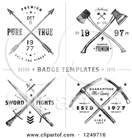 crossed swords tattoo clipart of vintage arrow axe and sword label designs with