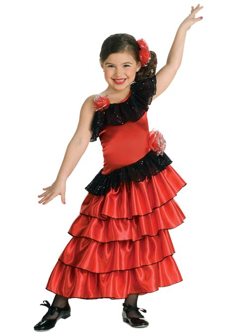 halloween costumes girls girls spanish flamenco dancer costume