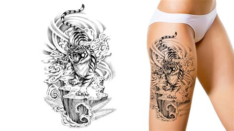 thigh tattoo design 21 unique custom tattoos designs photos collection