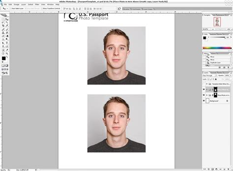 Photoshop Passport Photo Template V1 1 Nicmyers Com Us Visa Photo Template
