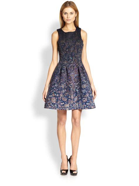 Dress Alina cynthia rowley printed aline dress in blue lyst