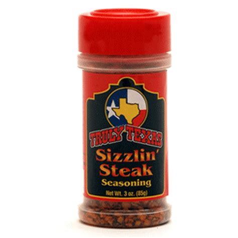 truly texas sizzlin steak seasoning seasonings rubs texasfood com