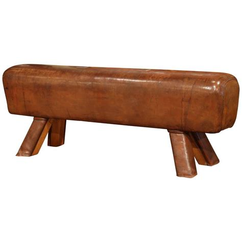 horse bench early 20th century leather pommel horse bench from prague