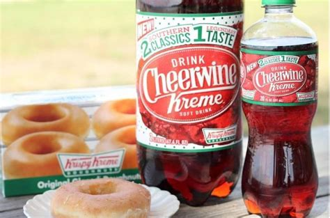 cheerwine s centennial celebration clture co branded donut flavored sodas cheerwine kreme