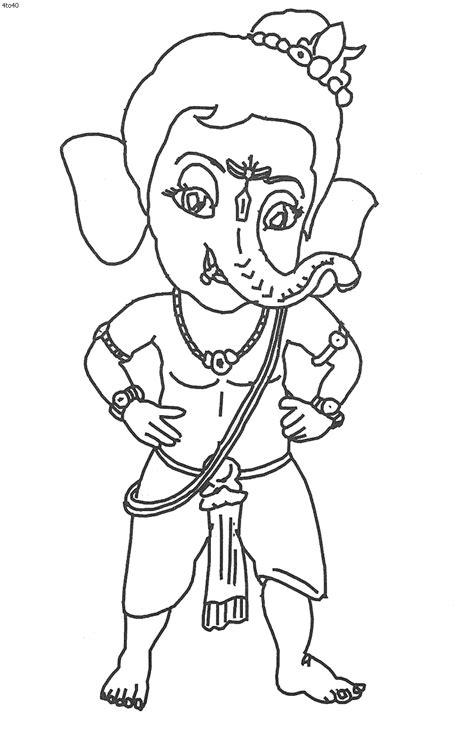 Bal Ganesh Colouring Pages Ganesha Coloring Pages