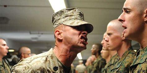 marine drill sergeant yelling