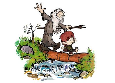 the blot says the lord of the rings the blot says threadless calvin hobbes x the lord of the rings t shirt halfling and wizard