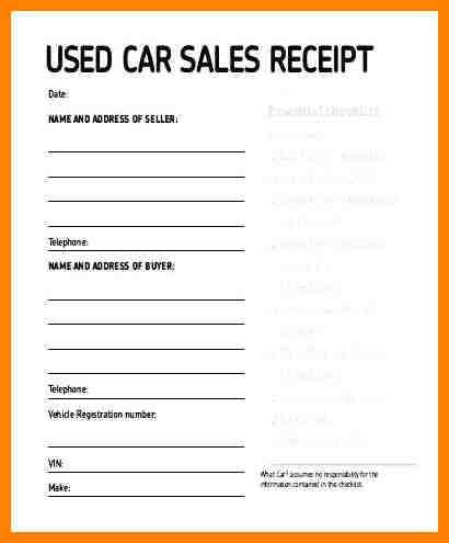 5 Exle Of Car Sale Receipt Cains Cause Vehicle Sales Receipt Template Word