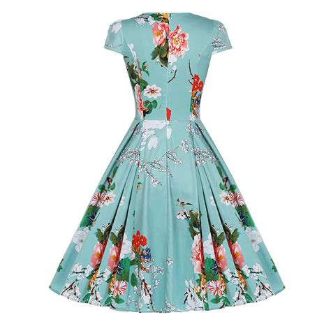 sixties swing dresses vintage womens 50s 60s retro floral rockabilly pinup