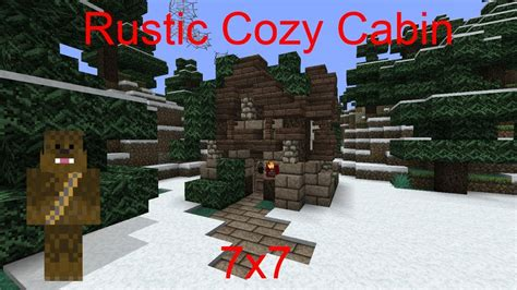 Small Rustic House Plans minecraft 7x7 rustic cozy cabin tutorial youtube