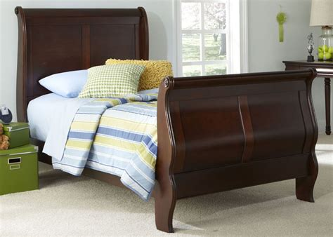 carriage twin bed carriage court twin sleigh bed from liberty 709 ybr tsl coleman furniture