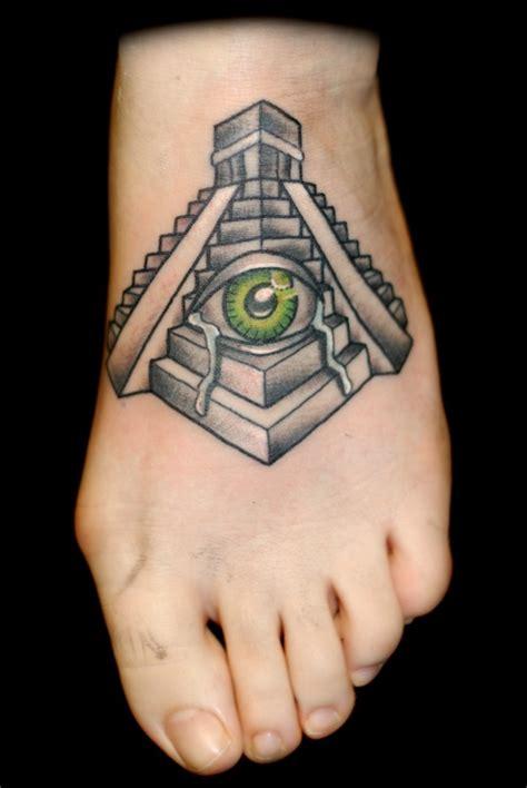 tattoo of eye in pyramid 16 aztec pyramid tattoos