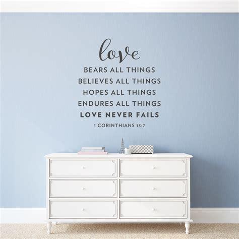 love naver love never fails wall art decal