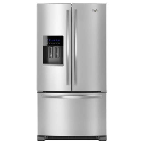 Water Dispenser With Refrigerator wrf555sdfz whirlpool 36 quot 25 cu ft door refrigerator with exterior water dispenser