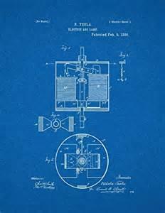 Tesla Electric Car Blueprint Tesla Electric Arc L Patent Blueprint Poster 24 X