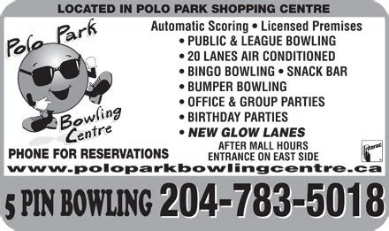 Polo Park Gift Card Winnipeg - polo park bowling centre 157 1485 portage ave winnipeg mb