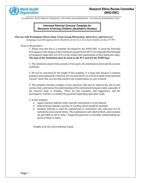 focus consent form template beautiful study notes template pictures inspiration