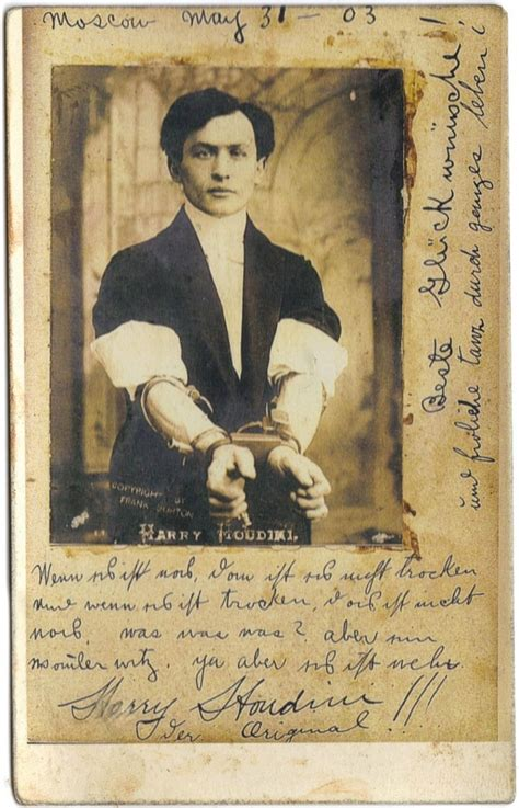 Harry Houdini Also Search For Harry Houdini Magic By Mio