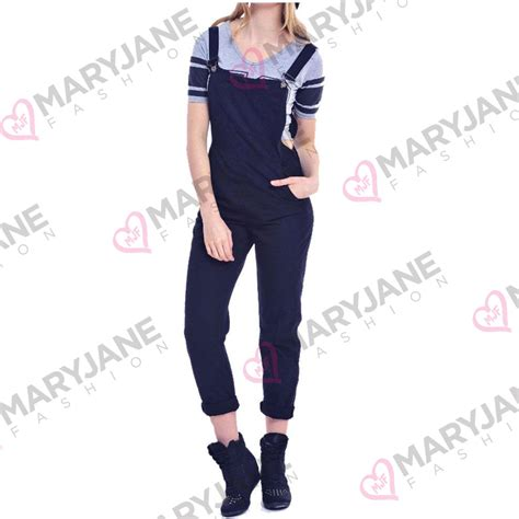Overall Jumpsuit New 102 Werpak With Inner Playsuit Kancing Zipp womens length detactable overall dungarees jumpsuit 8 10 12 14 ebay