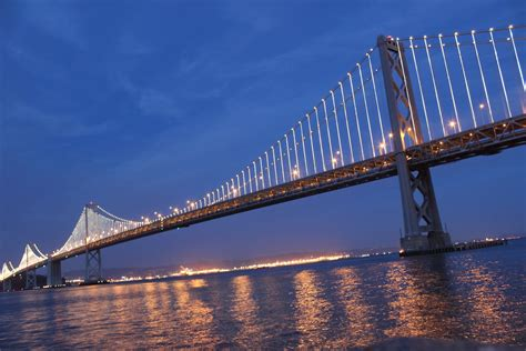 Photos 25 000 Lights Turn The San Francisco Bay Bridge Lights In San Francisco