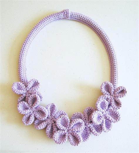crochet pattern flower necklace flower necklace 3 183 how to knit or crochet a knit or