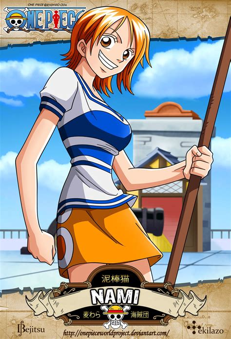N Anime One by One Nami By Onepieceworldproject Deviantart On
