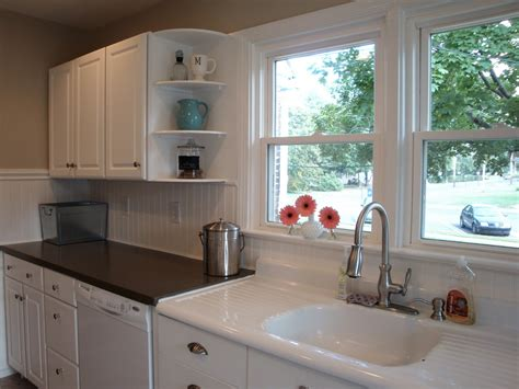 beadboard kitchen cabinets kitchen wall covering ideas remodelaholic kitchen backsplash tiles now beadboard