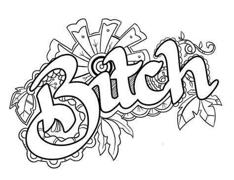 coloring pages for adults swear words https www colorfullanguageart swear words