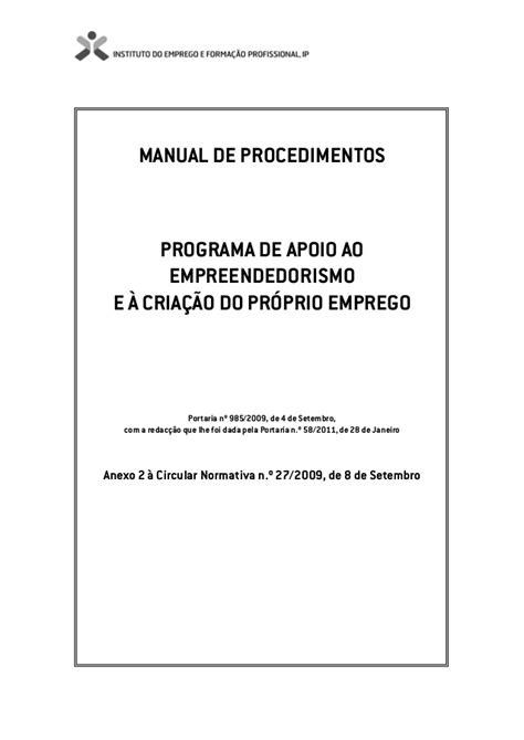Paecpe manual de procedimentos com anexos e regulamento