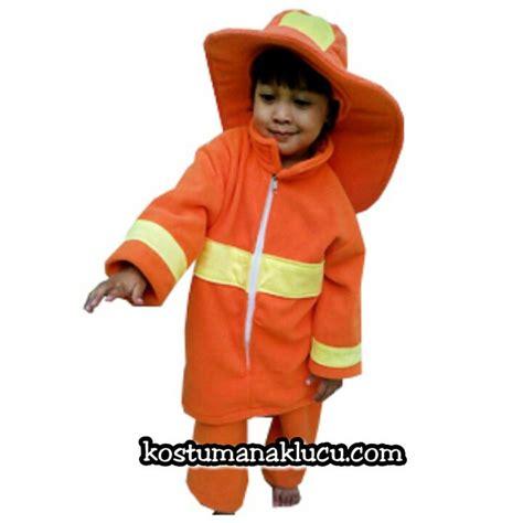 Baju Setelan Anak Senhukai 3pc kostum baju profesi anak pemadam kostum anak lucu