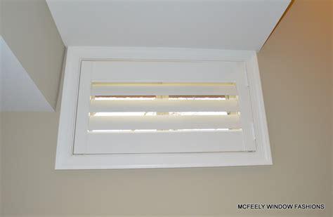 basement window plantation shutter mcfeely window
