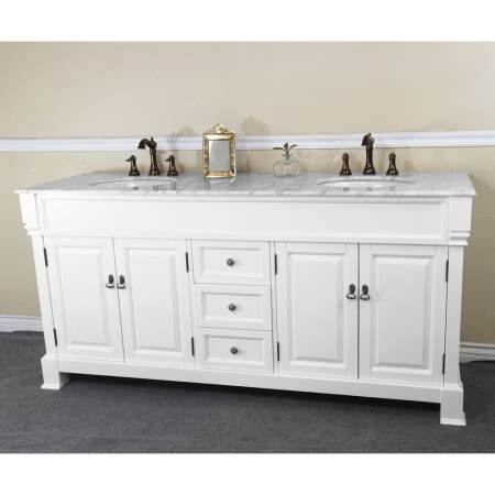 72 Inch Double Sink Bathroom Vanity in White UVBH205072DWH72