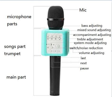 Mic Wisdom Q9 Wireless Microphone Multi Channel q9s mobile phone erasure microphone karaoke player