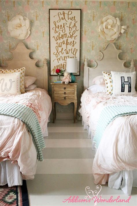 Sherwin Williams Downy winnie s little girl room design reveal addison s